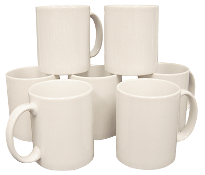 White Coated Mugs