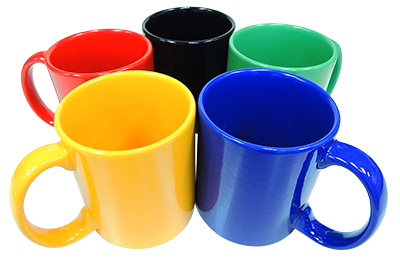 Colour Coated Mugs